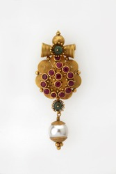 Heavy gold ear ring, Indian style jewellery
