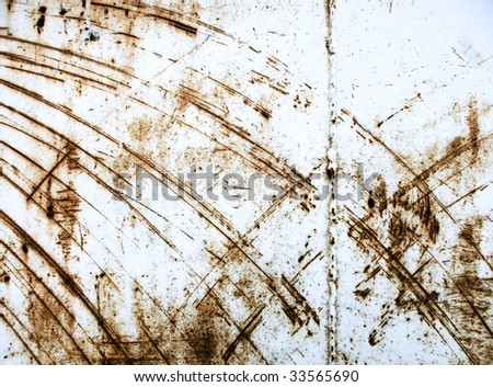 Heavy industrial background from rusty and scratched surface metal