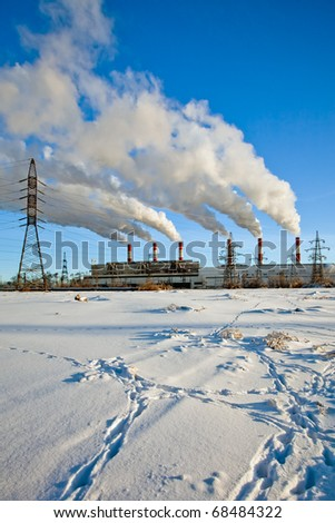 Heavy industrial pollution, environment problem in the city
