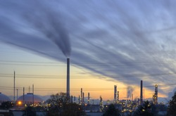 heavy industry daybreak HDR (Hamburg, Germany)