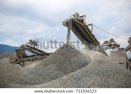 Heavy machinery at the quarry