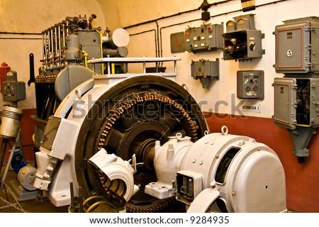 Heavy machinery industrial room