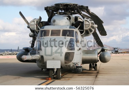 Heavy military transport helicopter