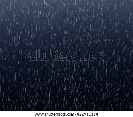 Heavy rain background. Abstract vertical rain drops concept. Dark blue rain evening scene. Rainy dark background. Falling rain concept. Abstract heavy rain background.