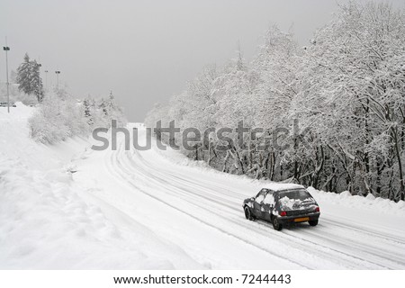 heavy snow on the road