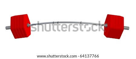Heavy weights isolated on white background with clipping path. - stock photo
