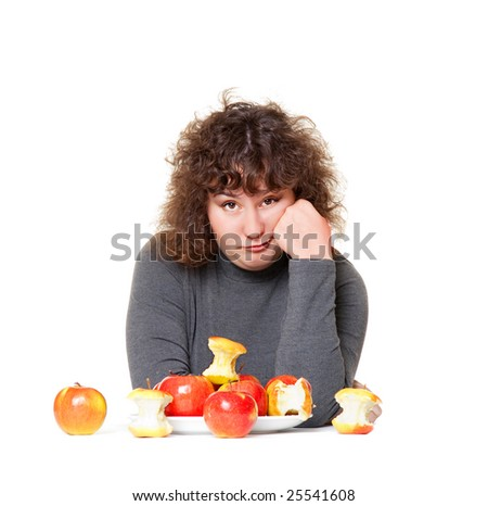 heavy woman tired of diet