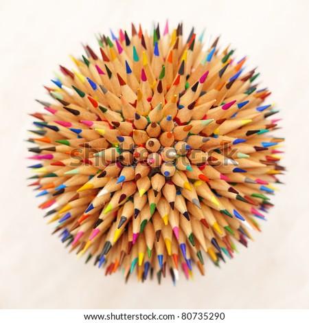 hedgehog out of pencils