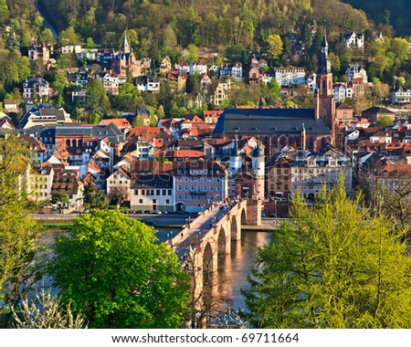 Heidelberg at spring, Germany