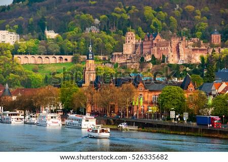 heidelberg  germany. view of...