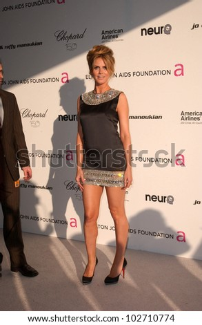 Heidi Klum at the 18th Annual Elton John AIDS Foundation Oscar Viewing Party, Pacific Design Center, West Hollywood, CA. 03-07-10