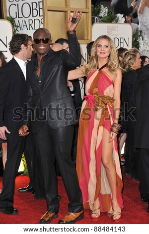Heidi Klum & Seal at the 68th Annual Golden Globe Awards at the Beverly Hilton Hotel. January 16, 2011  Beverly Hills, CA Picture: Paul Smith / Featureflash