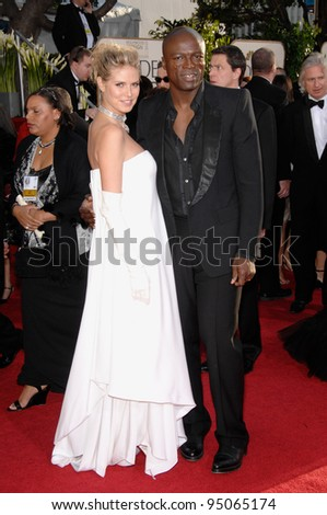 HEIDI KLUM & SEAL at the 64th Annual Golden Globe Awards at the Beverly Hilton Hotel. January 15, 2007 Beverly Hills, CA Picture: Paul Smith / Featureflash