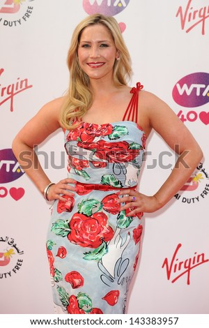 Heidi Range arriving for the WTA Pre-Wimbledon Party 2013 at the Kensington Roof Gardens, London. 20/06/2013