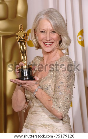 "Helen Mirren - Best Actress winner for ""The Queen"" - at the 79th Annual Academy Awards at the Kodak Theatre, Hollywood. February 26, 2007  Los Angeles, CA Picture: Paul Smith / Featureflash"