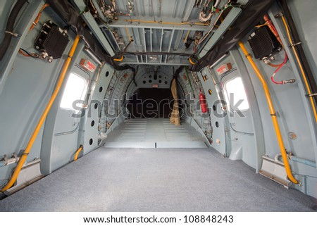 helicopter cargo compartment, inside