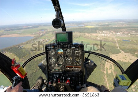 Helicopter Cockpit View