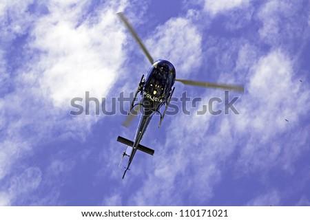 Helicopter flying over Rio de Janeiro