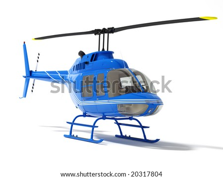 helicopter isolated on a white background (high resolution 3d rendered image)