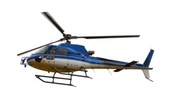 Helicopter isolated on white background