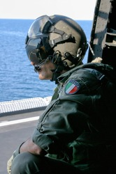 Helicopter pilot of the Italian Navy