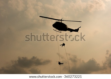 Helicopter, soldiers rescue helicopter operations
