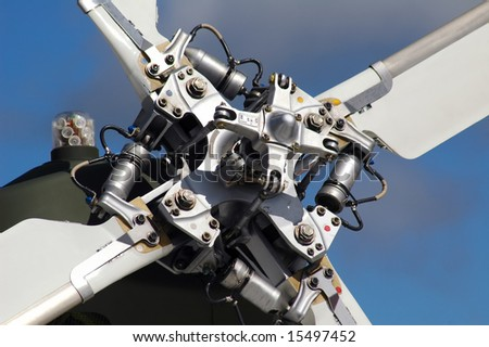 helicopter tail rotor blades detail