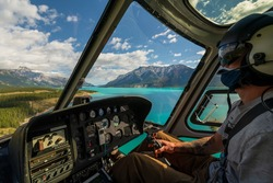 Helicopter Tour - Heli Tour - Banff Jasper National Park - Rocky Mountains - Alberta Canada