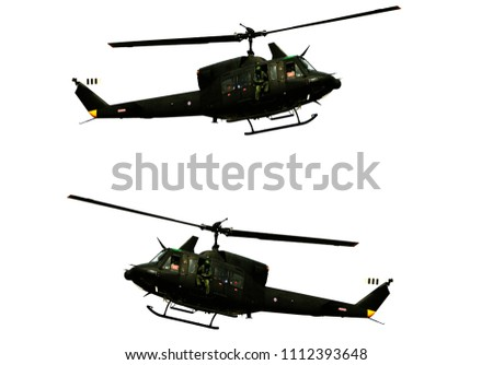 Helicopter white background