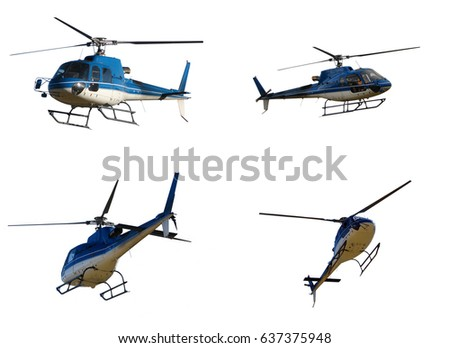 Helicopters isolated on white background