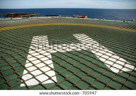 Helipad Abstract On Offshore Oil Rig Stock Photo 705947 : Shutterstock