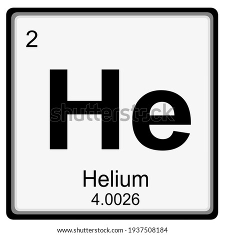 helium - atomic number and mass number Stock fotó ©