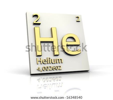 stock photo : Helium form Periodic Table of Elements