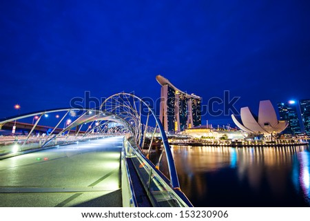 Helix Bridge singapore travel Landmarks #153230906