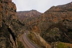 Hell creek canyon (Cehennem Deresi Kanyonu) in Ardanuc town in Artvin,Turkey