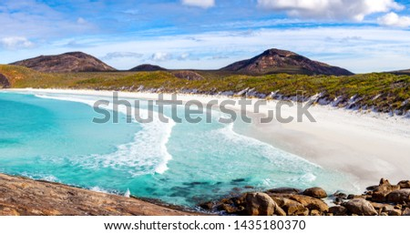 Hellfire Bay is a popular beach in the Cape Le Grand National Park, west of Esperance, Western Australia, Australia. #1435180370