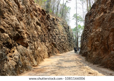 Hellfire Pass is the name of a railway cutting on the former