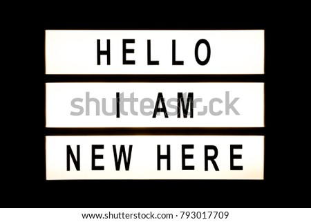 Hello I am new here hanging light box sign board. #793017709