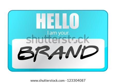 Hello I am your Brand illustration design over white