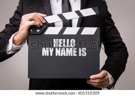 Hello My Name Is ストックフォト ©