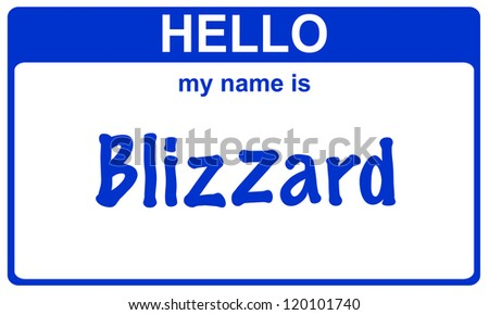 hello my name is blizzard blue sticker