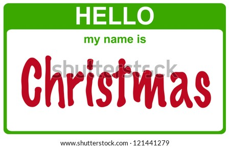 hello my name is christmas sticker