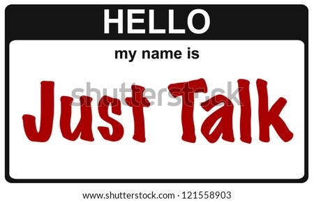 hello my name is just talk sticker