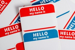 Hello my name is name badge paper aticker