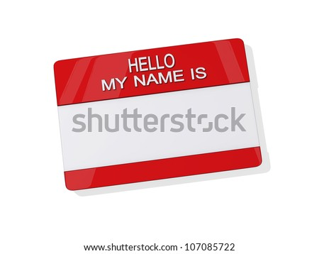 Hello My Name is Sticker on a white background.