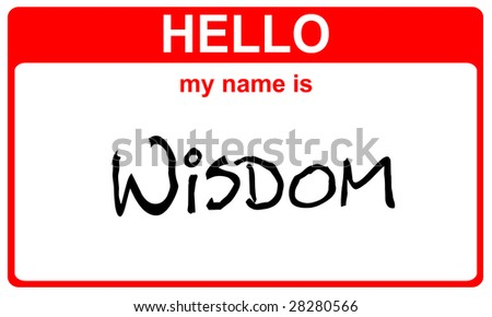 hello my name is wisdom red sticker