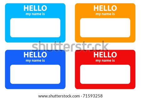 Hello name card