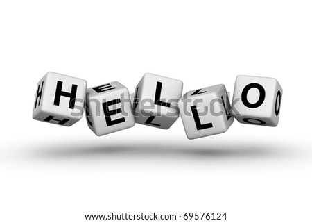 hello sign for web page - stock photo