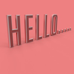 Hello typography for posters and banners