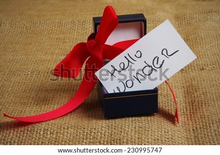 Hello wonder,box with surprise